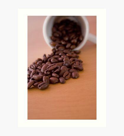 Coffee Spill Art Print
