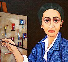 Maria Helena Vieira da Silva painting by Madalena Lobao-Tello