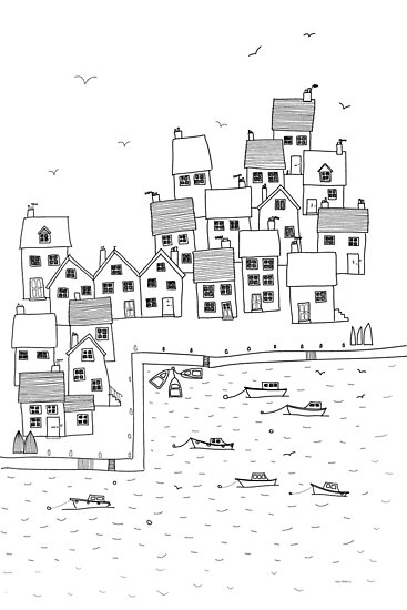 Harbour Sketch by Nic Squirrell