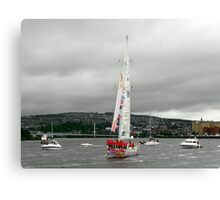 Derry Clipper Yacht - River Foyle Derry Ireland  Canvas Print