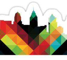 Philadelphia PA Skyline- Colorful Sticker