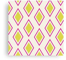 Neon Pink Moroccan  Canvas Print