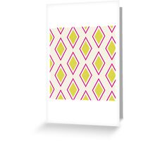 Neon Pink Moroccan  Greeting Card