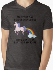 May Your Day Be More Beautiful Than A Unicorn Farting Rainbows Mens V-Neck T-Shirt