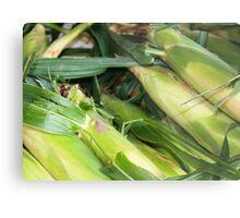 Farmers Market Corn Metal Print