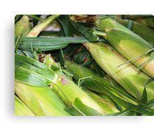Farmers Market Corn Canvas Print