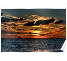 Spurn Head Sunset Poster