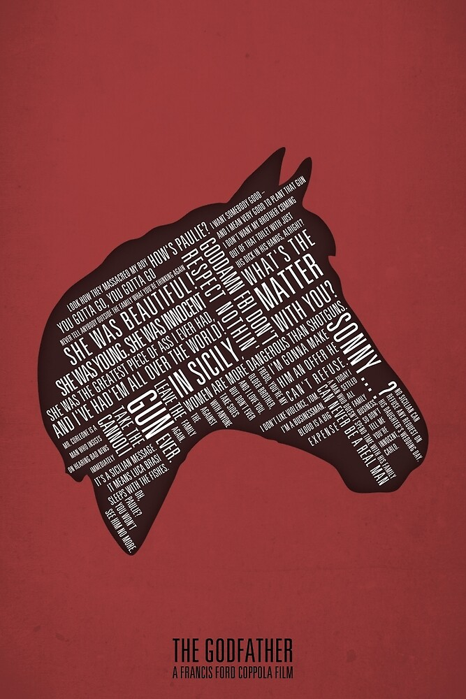 Godfather - Horses Head Quotes Print by smprintsuk