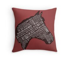 Godfather - Horses Head Quotes Print Throw Pillow
