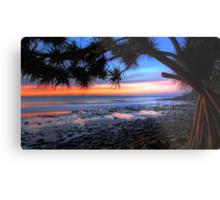 Pandanus Sunset Metal Print
