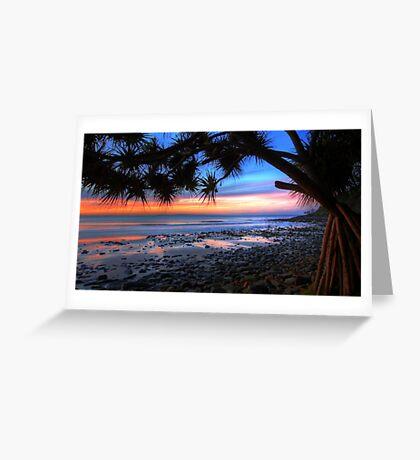 Pandanus Sunset Greeting Card