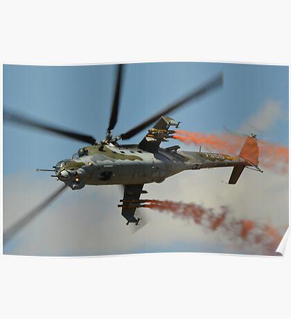Mil Mi 35  Czech Air Force Poster