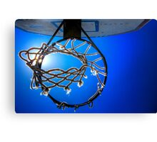 Hoop Blue Canvas Print
