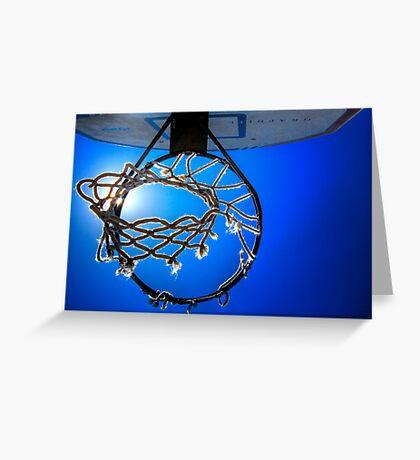 Hoop Blue Greeting Card