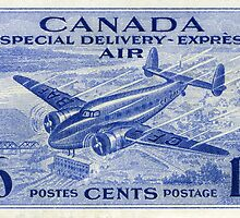 Canada Special Delivery Air Mail Stamp by Deb Richardson