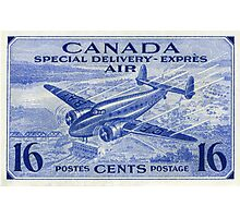 Canada Special Delivery Air Mail Stamp Photographic Print