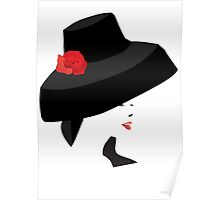 A woman with a big Hat Poster