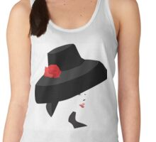 A woman with a big Hat Women's Tank Top