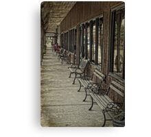 Row of Benches Canvas Print