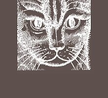 Close Up of Cat's Head in white Unisex T-Shirt