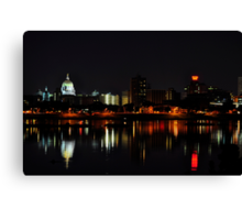 A Harrisburg Night Skyline Canvas Print