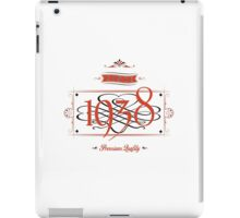 Since 1938 (Red&Black) iPad Case/Skin
