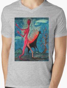 The Burning Giraffe Interpretation  Mens V-Neck T-Shirt