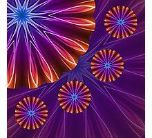 Kaleidoscope Neon Light 01 Photographic Print