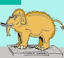 Wooly mammoth that's been stuffed. by mattycarpets