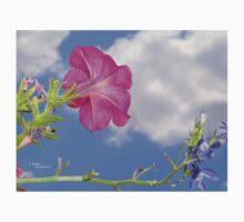 Pink Petunia Flower Clouds Baby Tee