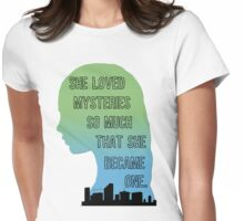 Paper Towns Margo-Green/Blue Womens Fitted T-Shirt