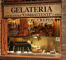 Gelato Shop in Tuscany by flynnrussell