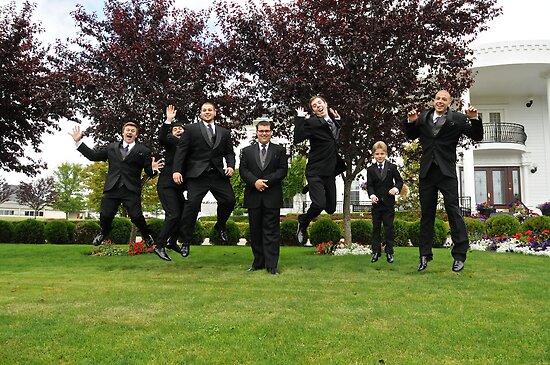 Jump by the groomsmen by Carl LaCasse