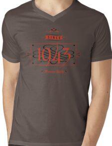 Since 1943 (Red&Black) Mens V-Neck T-Shirt