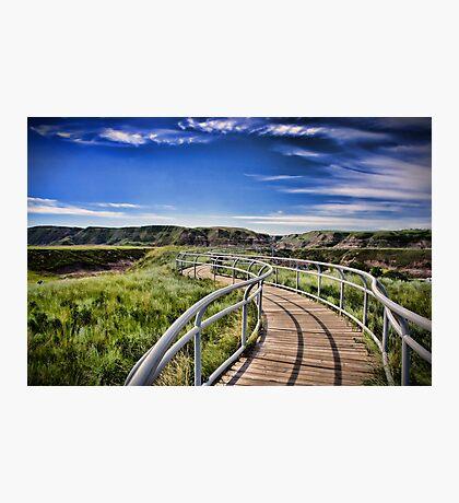 Path Over Badlands Photographic Print