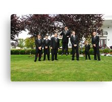 Jordan jump (Groom) Canvas Print