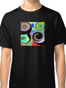 Modern Abstract Swirl Design Classic T-Shirt