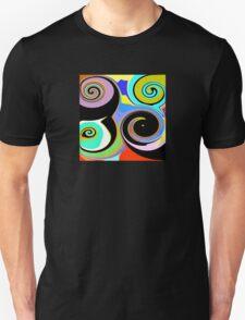 Modern Abstract Swirl Design Unisex T-Shirt