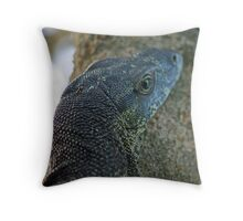 LACE MONITOR UP A TREE Throw Pillow