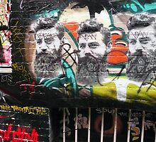 Ned Kelly graffiti, Melbourne by Roz McQuillan