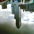 Upside down Melbourne & Sky reflected in River Yarra by EdsMum