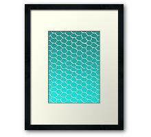 Teal Scales Framed Print