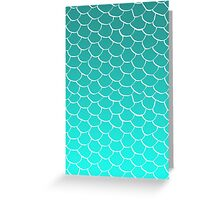 Teal Scales Greeting Card