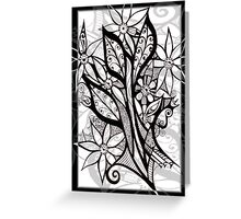Petal Patterns in Black and White Greeting Card