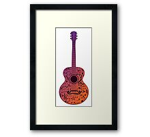 Guitar and Music Notes 3 Framed Print