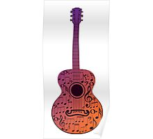 Guitar and Music Notes 3 Poster