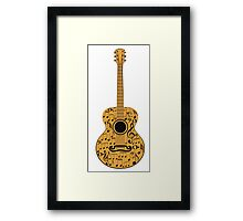 Guitar and Music Notes 4 Framed Print