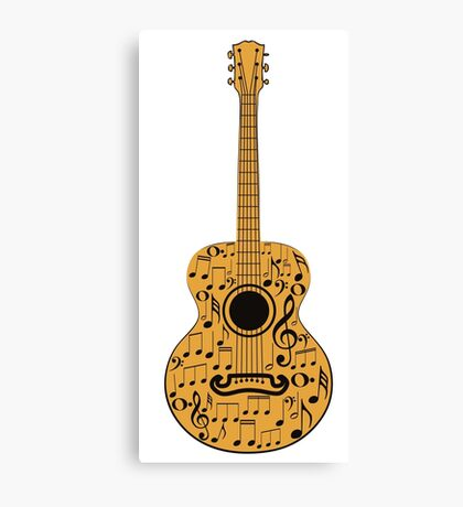 Guitar and Music Notes 4 Canvas Print