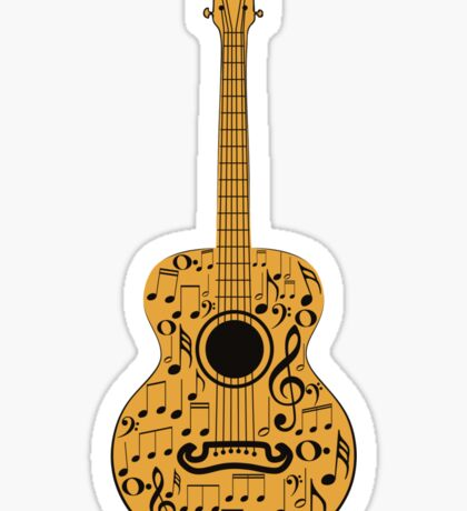 Guitar and Music Notes 4 Sticker