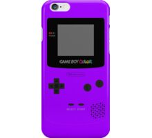 Game Boy Violet iPhone Case/Skin